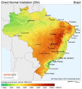 Direct Normal Irradiation (DNI) Brazil